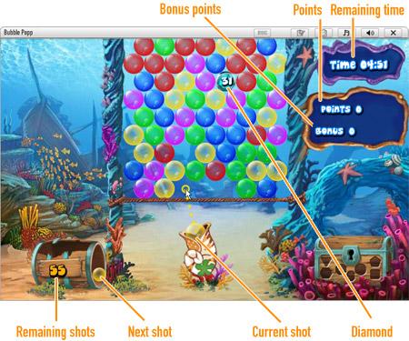 Bubble Popp              Game board