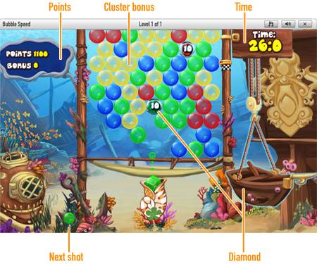 Bubble Speed              Spielfeld