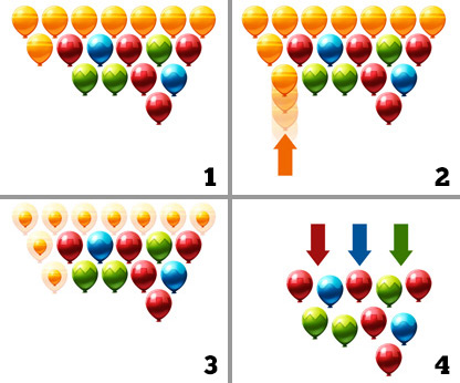 Shoot and Swap Balloons