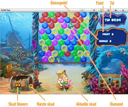 Bubble Popp              Spilområdet