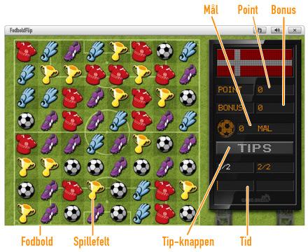 FodboldFlip              Spilområdet