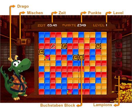 Dragon Click              Spielfeld