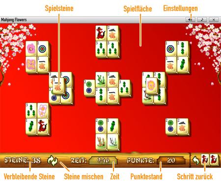Mahjong Flowers              Spielfeld
