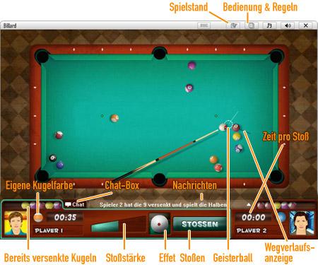 8-Ball Billard              Spielfeld