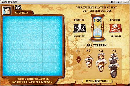 Piraten versenken              Spielfeld