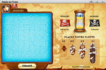 Bataille des Pirates              Plateau de jeu