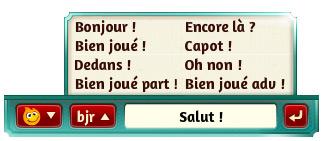 Belote Messages dans le jeu de Belote