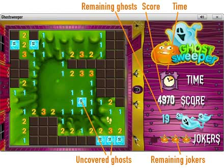 GhostSweeper              Game board
