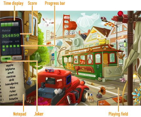 Hidden Gizmos              Game board
