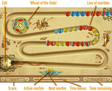 Marbles of Olympus              game board