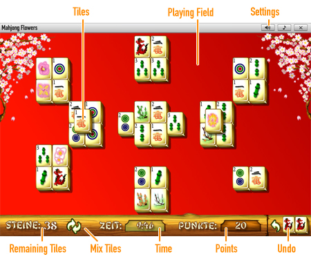 Mahjong Flowers              Game board