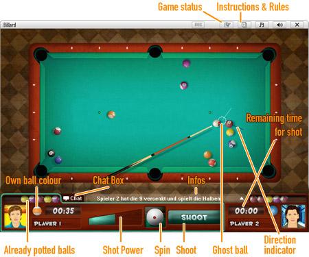 8-Ball Pool              Game board