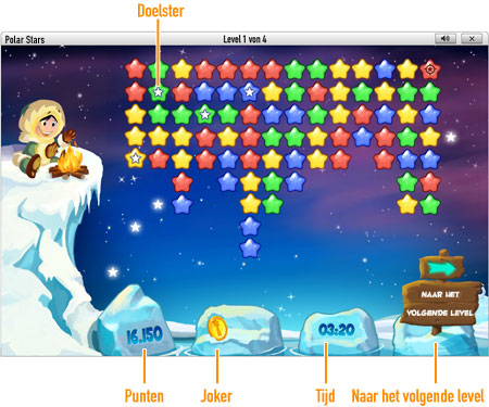 Speel Polar Stars nu online bij GameDuell. Reis af naar de Noordpool en leg de sterrenbeelden bloot. Speel Polar Stars gratis bij GameDuell en bewijs ijskoud dat u beste bent.