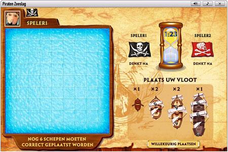 Piraten Zeeslag              Speelveld